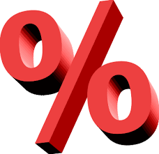 percent sign - mortgages